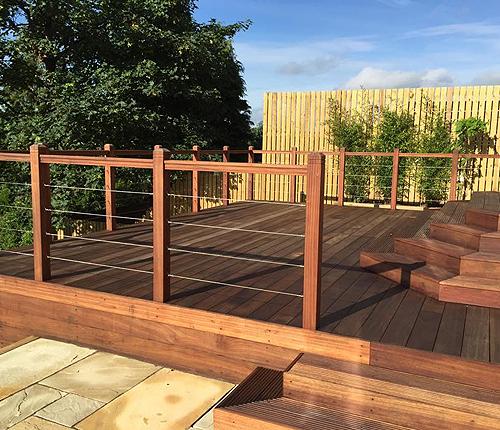 Decking glasgow fencing glasgow privacy fencing giffnock for Garden decking glasgow